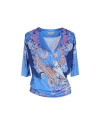 Etro - Blue T-shirt - Lyst