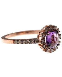 Suzanne Kalan | Purple Amethyst And Champagne Diamond Starburst Ring | Lyst