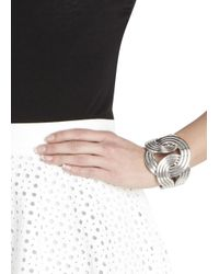 Lara Bohinc | Metallic Solar Eclipse Silver Tone Bracelet | Lyst
