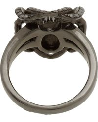 Lynn Ban - Pave Black Diamond Spider Ring - Lyst