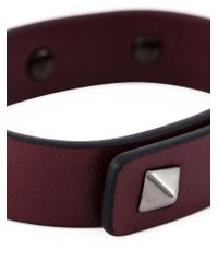 Valentino | Red 'rockstud' Bracelet for Men | Lyst
