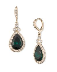 Givenchy | Metallic Pave Pear Drop Earrings | Lyst