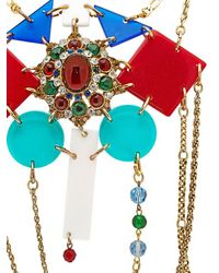 Maria Zureta - Metallic Rainbow & Gold Chain Necklace - Lyst