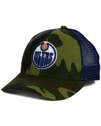 Reebok   Green Edmonton Oilers Camo Trucker Cap for Men   Lyst