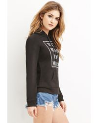 Forever 21 - Black Cities Graphic Hoodie - Lyst