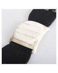Rick Owens - Leather Dieter Stud Bracelet Blackbone - Lyst
