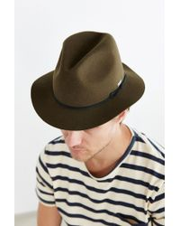 Coal | Green The Drifter Crash Fedora Hat for Men | Lyst