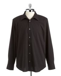 Calvin Klein | Black Striped Sportshirt for Men | Lyst