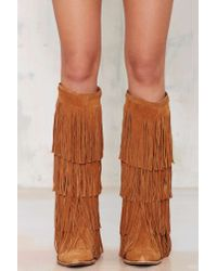 Jeffrey Campbell - Brown Esconder Fringe Suede Boot - Lyst