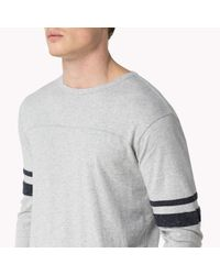 Tommy Hilfiger | Gray Cotton Long Sleeve T-shirt for Men | Lyst