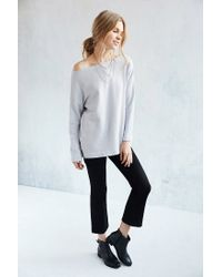 Truly Madly Deeply | Gray Jennie Off-the-shoulder Sweatshirt | Lyst