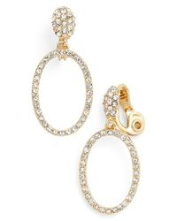 Anne Klein | Metallic Frontal Hoop Clip Earrings | Lyst