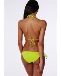 Missguided - Multicolor Moulded Triangle Bikini Top Lime - Lyst
