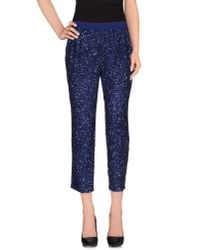 Pinko - Blue Casual Pants - Lyst