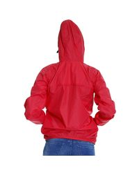 K-Way - Red Le Vrai Claudette 3.0 Nylon Hooded Jacket - Lyst