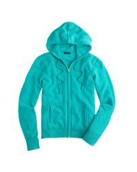 J.Crew - Blue Collection Cashmere Zip-Front Hoodie - Lyst