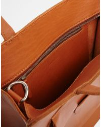 Sandqvist - Brown Christian Leather Tote Bag for Men - Lyst