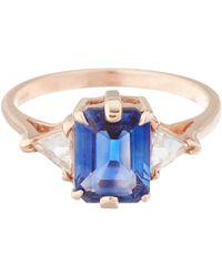 Anna Sheffield - Pink Blue Sapphire Bea Ring - Lyst