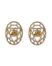 Venyx | Metallic 'tortuga' Earrings | Lyst