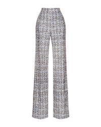 Carolina Herrera | Black Printed Tweed Wide Leg Pants | Lyst