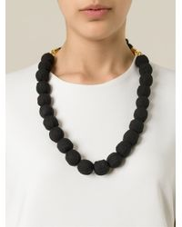Marni   Black Rope Balls Necklace   Lyst