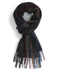 Paul Smith - Black Stripe Wool Scarf for Men - Lyst