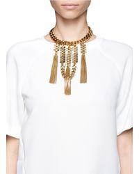 Ela Stone | Metallic Gwen Chain Plastron Choker Necklace | Lyst