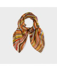 Paul Smith - Multicolor Striped Scarf for Men - Lyst
