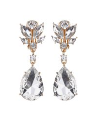 Mikey - Metallic Reverse V Drop Clip On Earring - Lyst