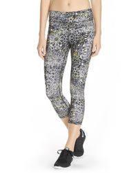 Lija | Black 'no Fear' Print Capri Leggings | Lyst