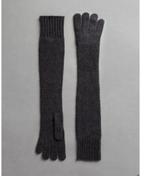 Dolce & Gabbana - Gray Long Cashmere Gloves - Lyst