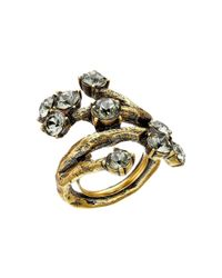 Oscar de la Renta | Metallic Crystal Branch Ring | Lyst