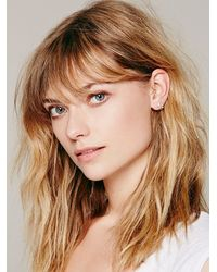 Free People | White Erica Weiner Womens Opal Triangle Studs | Lyst