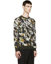 Alexander McQueen - Green & Cream Skull Camouflage Pullover for Men - Lyst
