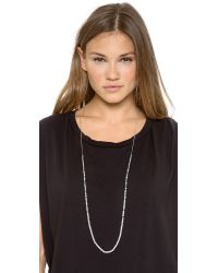 Chan Luu - White Long Strand Crystal Necklace 40 - Lyst
