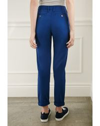 Forever 21   Blue Slim Chino Trousers   Lyst