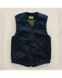 RRL | Blue Reynolds Work Vest for Men | Lyst