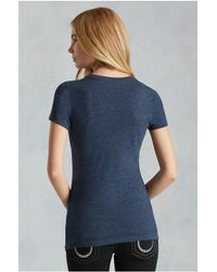 True Religion | Blue Stay True Womens Tee | Lyst
