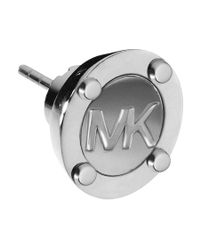 Michael Kors | Metallic Heritage Silver Astor Stud Earrings | Lyst