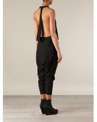 Lost & Found - Black Halterneck Jumpsuit - Lyst
