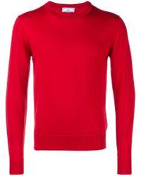 AMI - Red Basic Wool Jumper for Men - Lyst