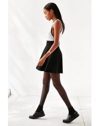 Silence + Noise - Black Double Layer Fit + Flare Dress - Lyst