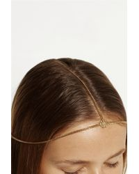 Jennifer Behr - Metallic Iria Diadem Gold-Plated Headpiece - Lyst