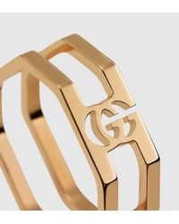Gucci | Metallic Gold Running G Ring | Lyst