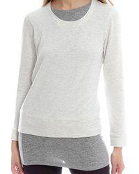 Monrow - Gray Layered Sweatshirt - Lyst