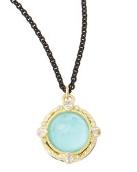 Armenta | Black 12Mm Green Turquoise Midnight Pendant Necklace | Lyst