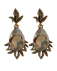 Oscar de la Renta | Multicolor Swarovski Crystal Peardrop Clip-on Earrings | Lyst