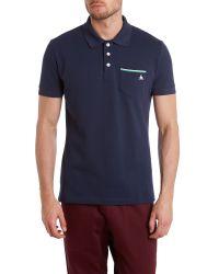 Le Coq Sportif | Blue Tricolores Pavot Short Sleeve Polo for Men | Lyst