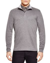 BOSS - Gray Piceno 59 Quarter Zip Pullover for Men - Lyst