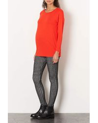 TOPSHOP | Black Maternity Gingham Leggings | Lyst